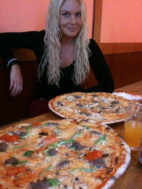 världens största pizza